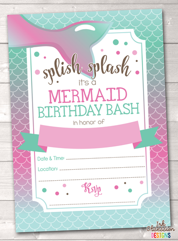 Mermaid printable birthday party invitation erin bradleyink mermaid printable birthday party invitation erin bradleyink obsession designs filmwisefo