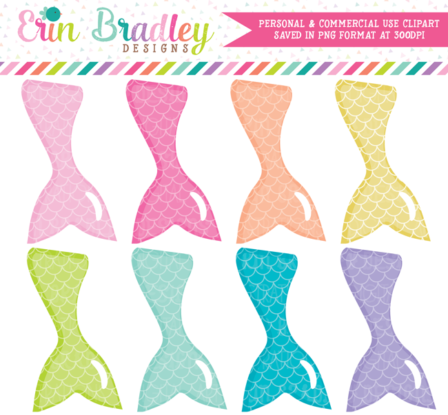 Mermaid Tails Commercial Use Clipart Graphics