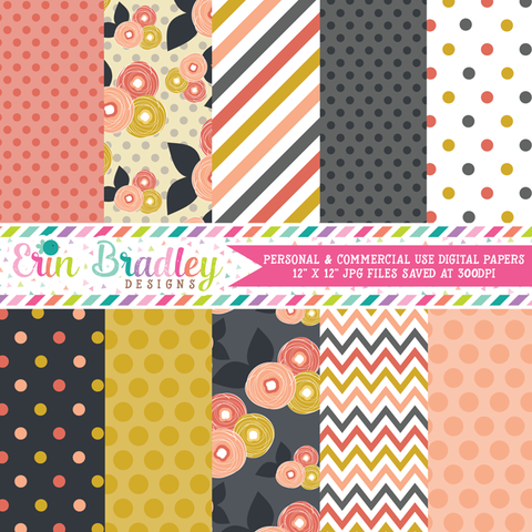 Mod Fall Digital Paper Pack