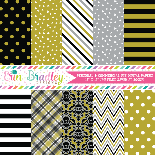 New Years Eve Digital Paper Pack