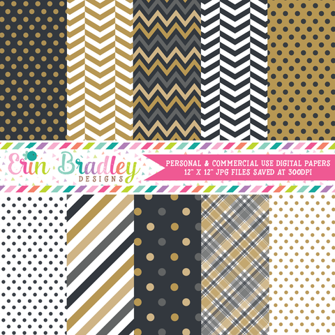 New Years Party Digital Paper Pack