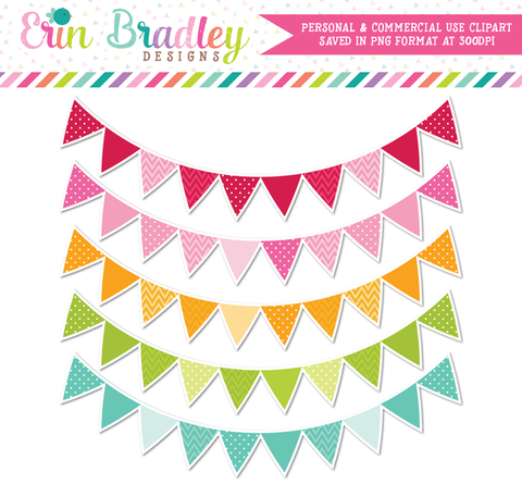Outlined Banner Flag Clipart