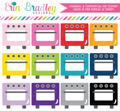 Oven Clipart Set