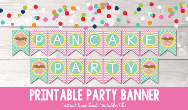 Pancake Party Printable Banner
