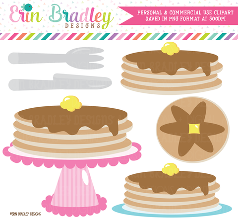 Pancake Clipart | Commercial Use Graphics