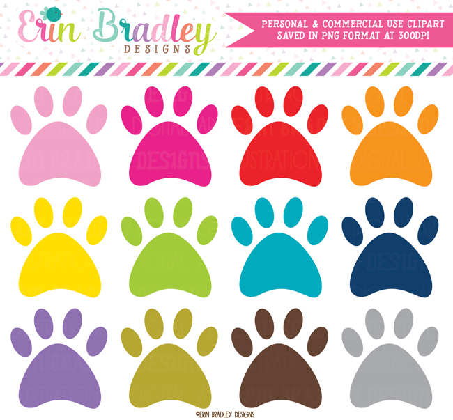 Paw Print Animal Clipart