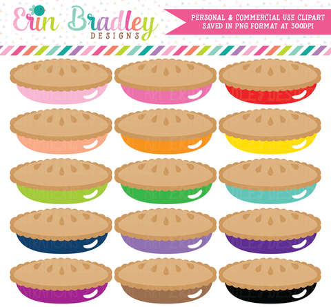 Pie Clipart Set