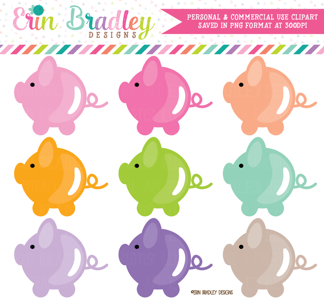 Piggy Bank Clipart Graphics