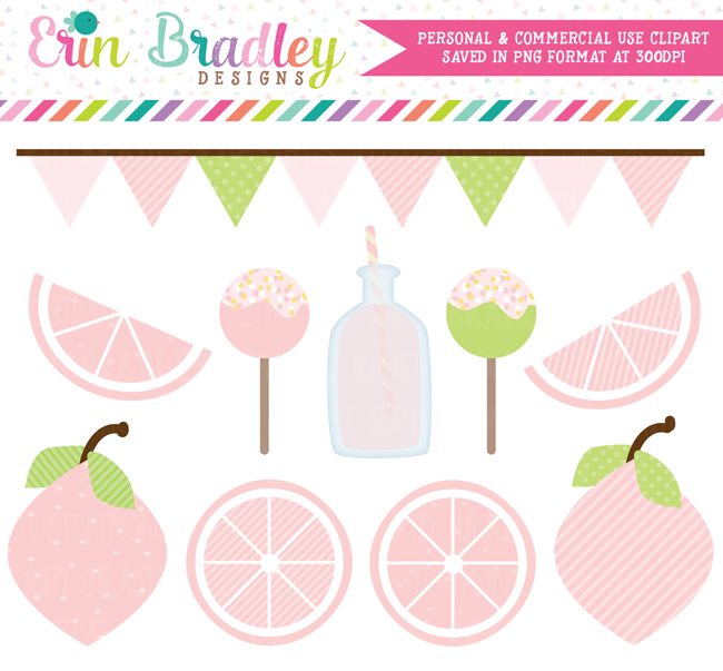 Pink Lemonade Clipart