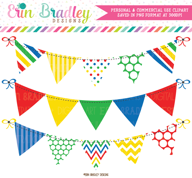 Primary Colors Banner Flag Clipart