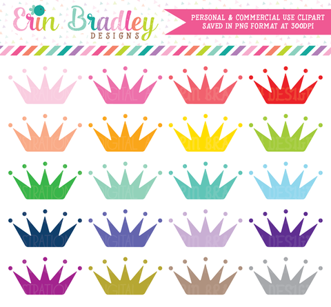 Princess Crowns Clipart Set