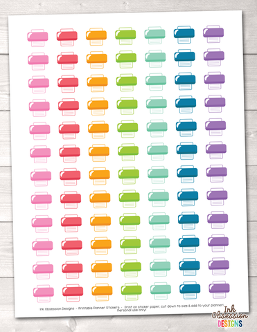 Printer Printable Planner Stickers Instant Download PDF