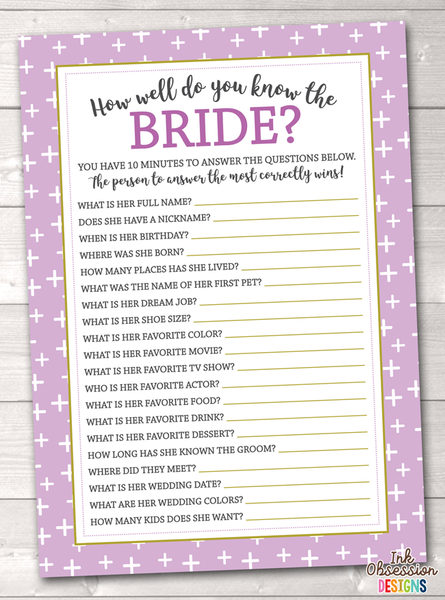 Intrepid image throughout free printable bridal shower games how well do you know the bride