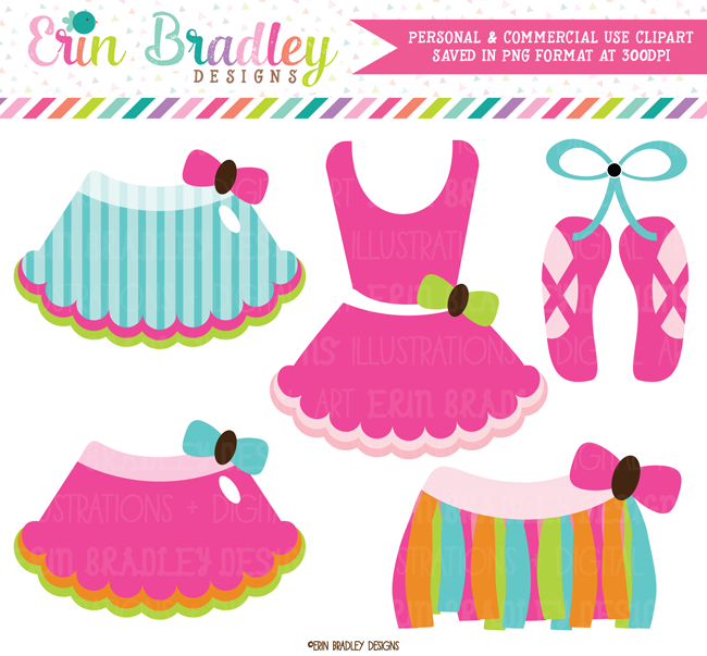 Rainbow Tutus Dance Clipart
