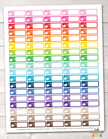 Vitamins Printable Planner Stickers