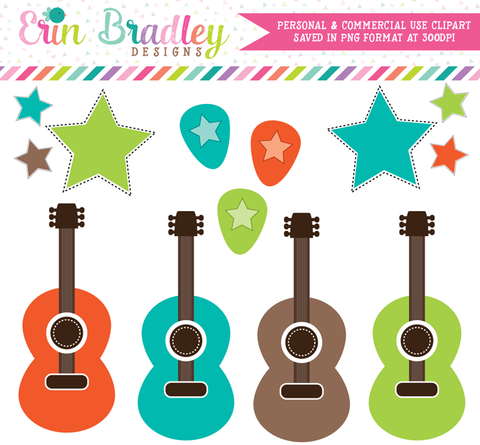 Rockstar Boys Guitar Clipart