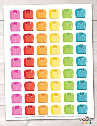 Scales Printable Planner Stickers Instant Download PDF