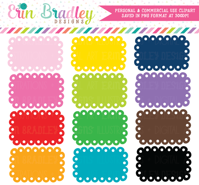 Scalloped Boxes Clipart
