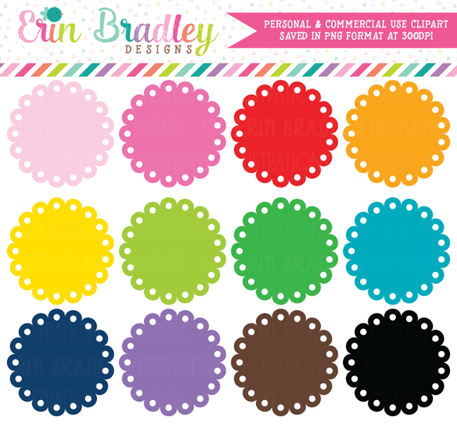 Scalloped Circles Clipart