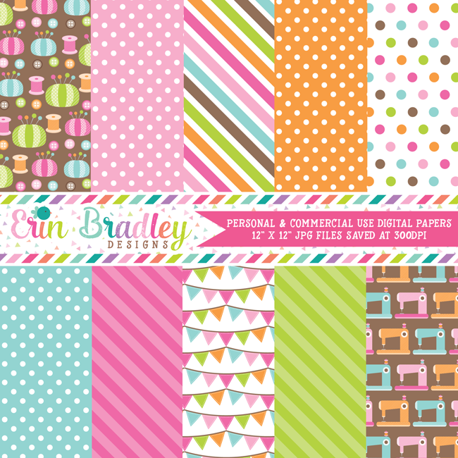 Sewing Room Goodies Digital Paper Pack