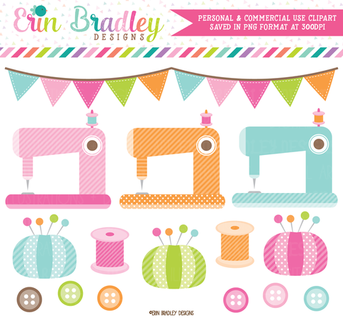 Sewing Machine Clipart Graphics