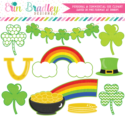Shamrocks St Patricks Day Clipart