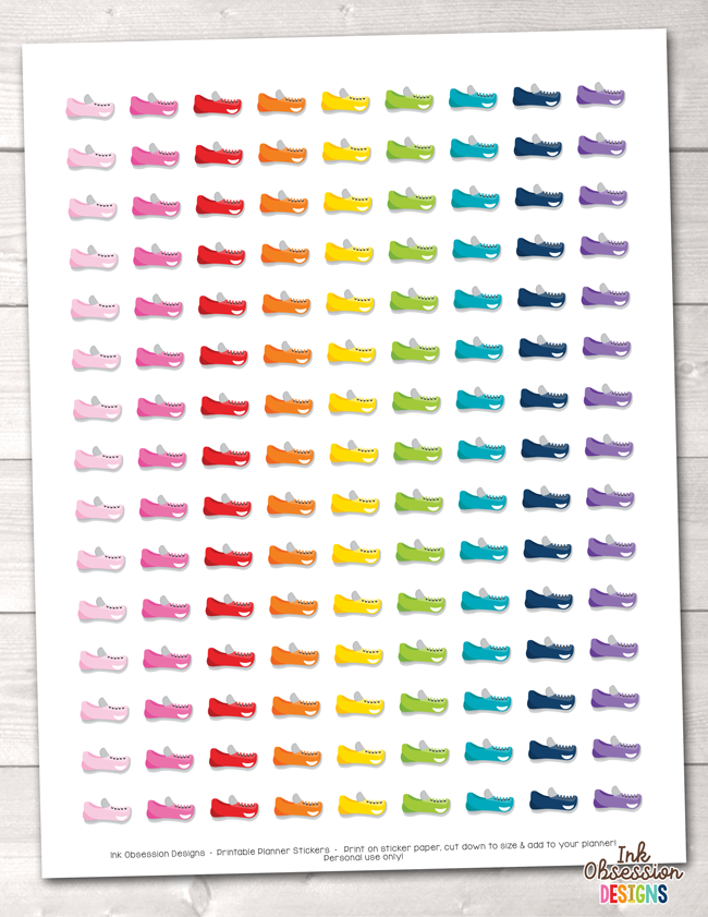 Shoe Printable Planner Stickers