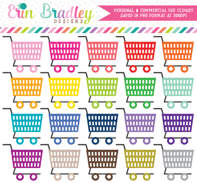 Grocery Shopping Cart Clipart