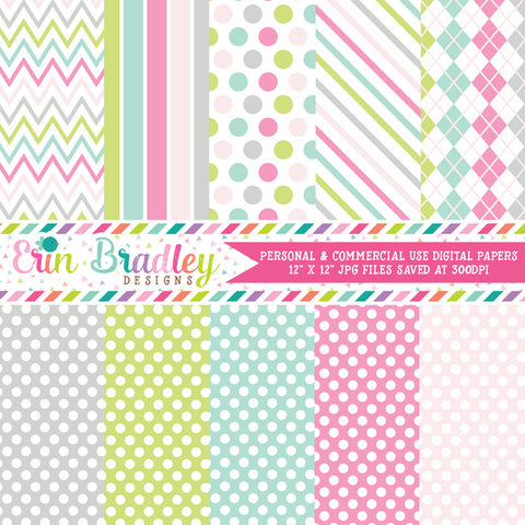 Soft Spring Digital Paper Pack