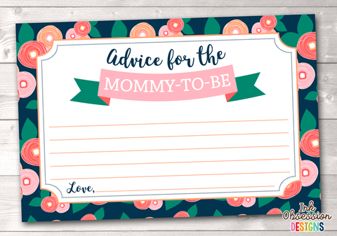 Spring Bloom Printable Mommy Advice Cards