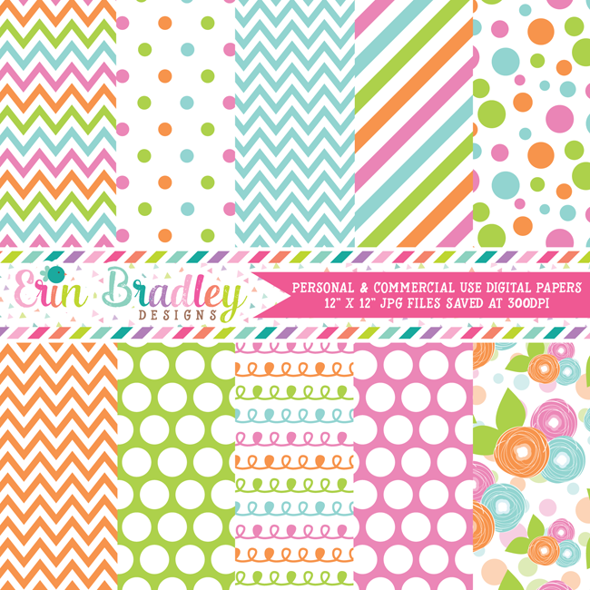 Happiness Digital Paper Pack