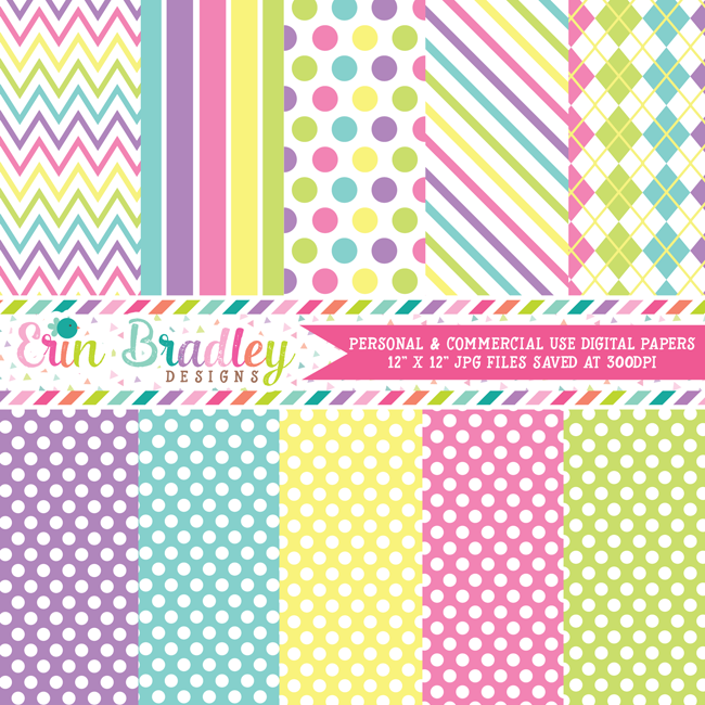 Springtime Medley Digital Papers