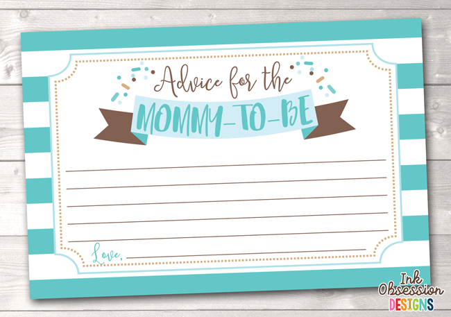 image relating to Mommy Advice Cards Printable referred to as Boy or girl Sprinkle Blue Printable Mommy Tips Playing cards