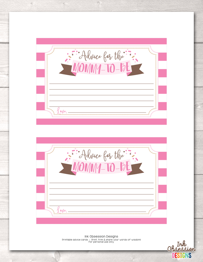 photo regarding Mommy Advice Cards Printable identified as Youngster Sprinkle Crimson Printable Mommy Information Playing cards
