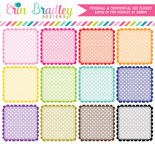Polka Dotted Squares Clipart