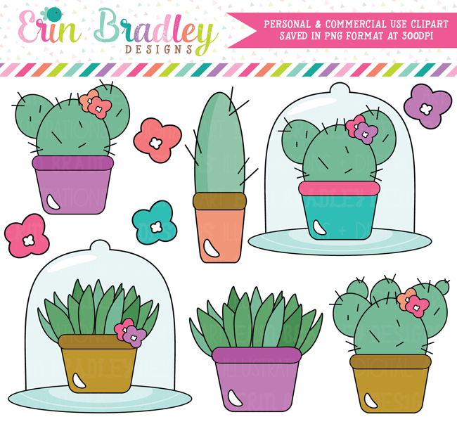 Succulents and Cactus Clipart