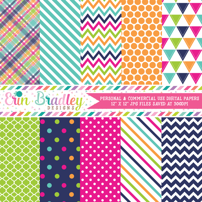 Summer Days Digital Paper Pack
