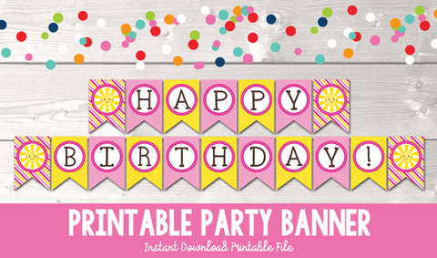 printable party banners � erin bradleyink obsession designs