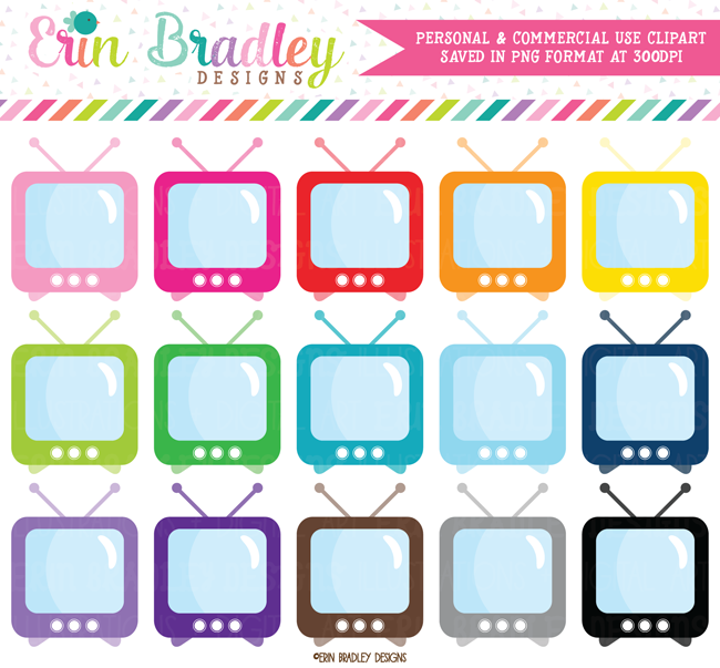 TV Set Clipart Graphics