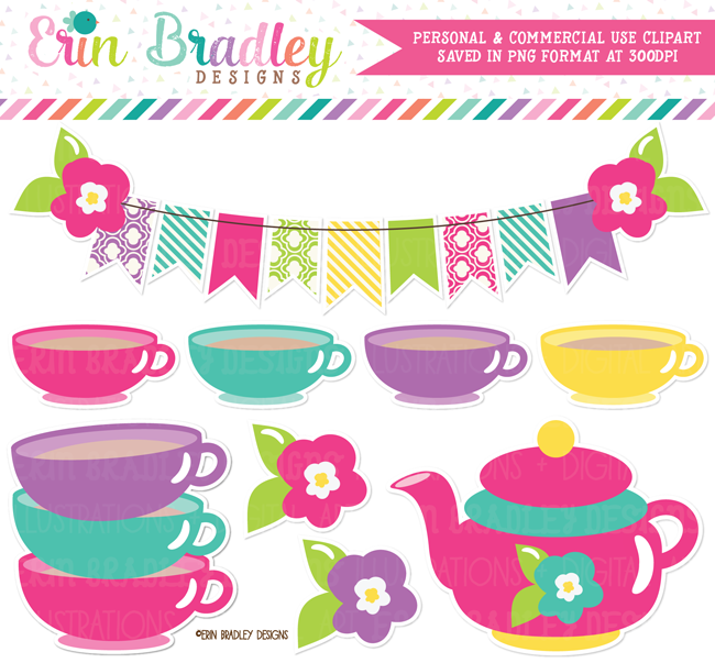 Girls Tea Party Clipart