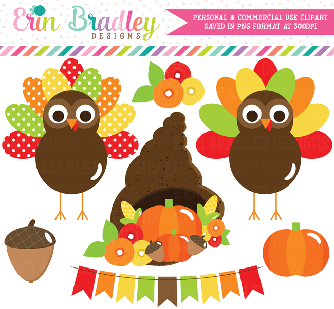 Thanksgiving Turkeys Clipart