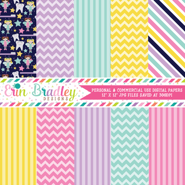 Toothfairy Digital Paper Pack