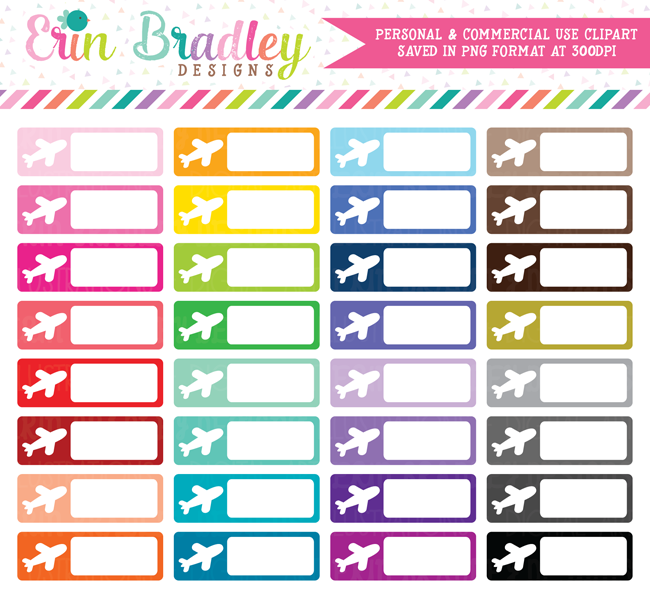 Travel Rectangle Boxes Clipart