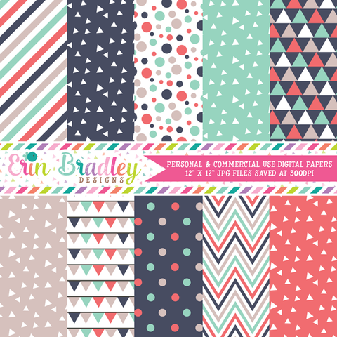 Triangle Collection Digital Paper Pack