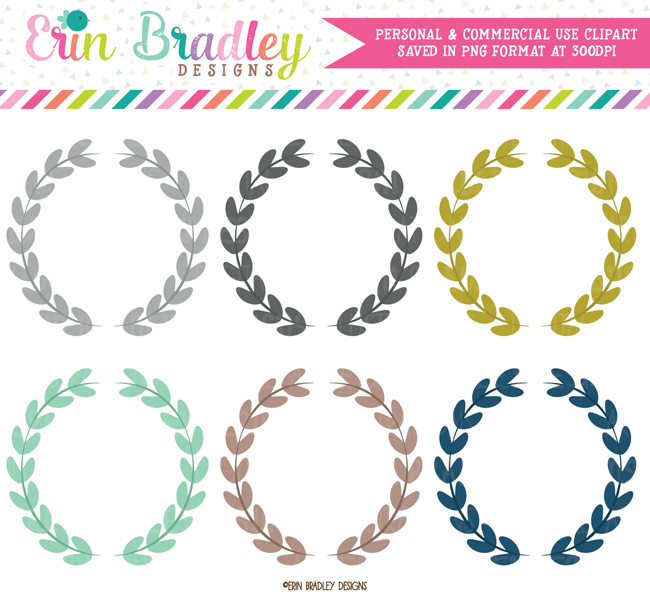 Leaf Laurel Wreaths Clipart