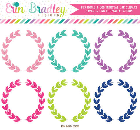 Girls Laurel Wreaths Clipart