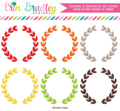 Laurel Wreaths Clipart
