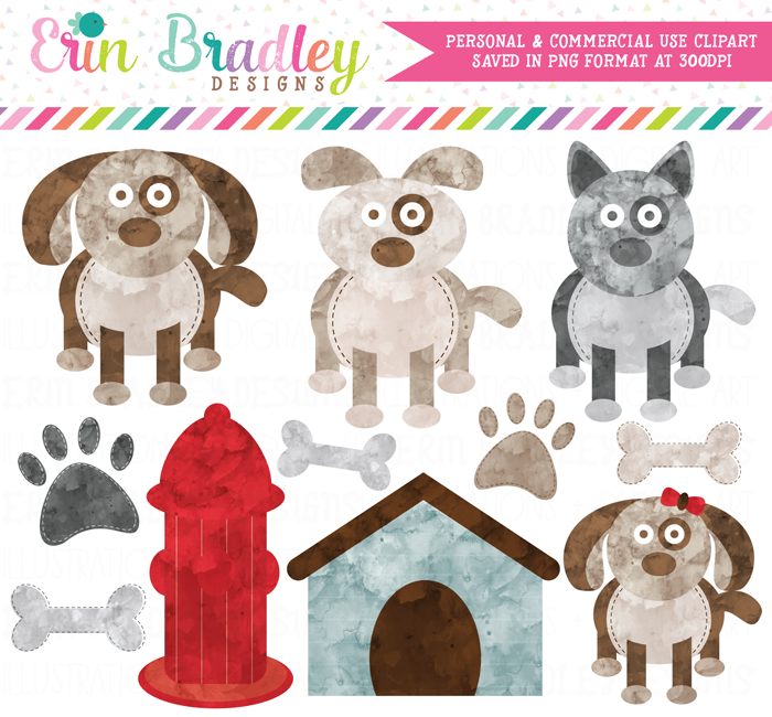 Watercolor Dog Clipart
