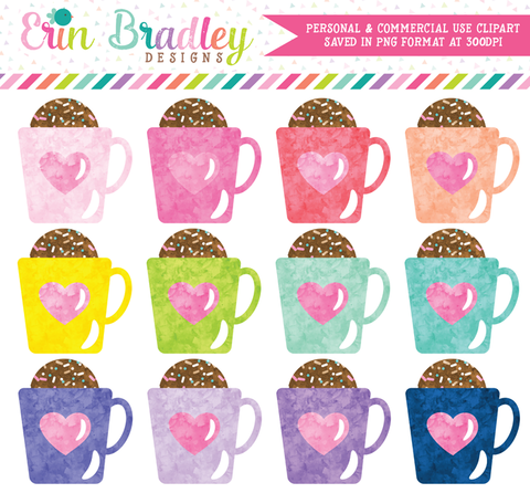 Hot Chocolate Bombs Watercolor Clipart