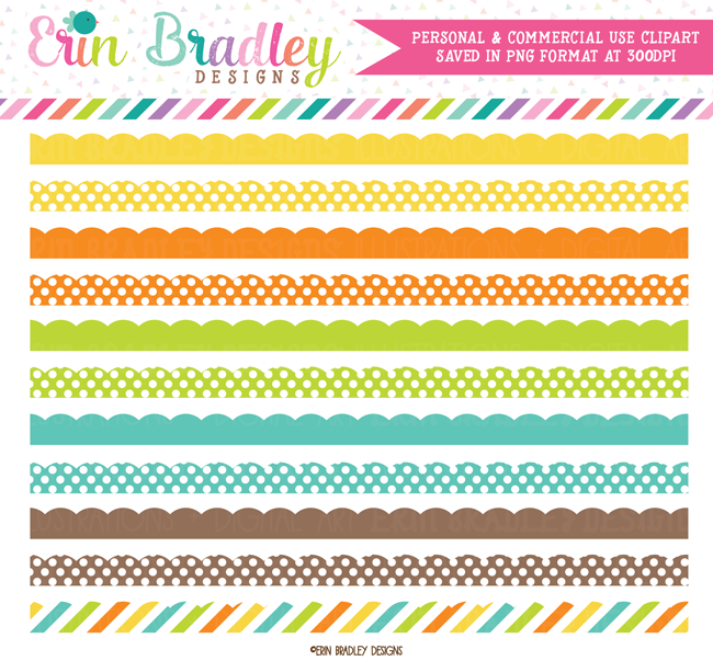 Instant Download Border Clipart Graphics